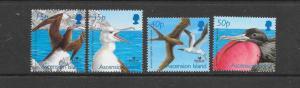 BIRDS - ASCENSION ISLAND-FRIGATE BIRDS #785-88  MNH