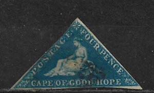 COLLECTION LOT OF # 13 CAPE OF GOOD HOPE 1863 CV = $120