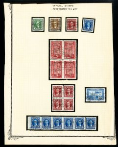 Canada 28 Perforated OHMS Stamps All in clean condition