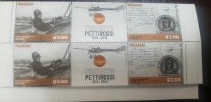 O) 2014 PARAGUAY,FIRST SILVIO PETTIROSSI - PILOT FLIGHT, MONOPLANE DEPERDUSSIN