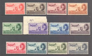 Egypt Scott C39/C50  - SG322/333, 1947 Airmail Set MH*