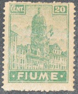 DYNAMITE Stamps: Fiume Scott #32a – MINT hr