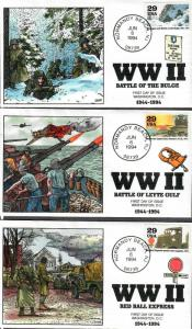 US Collins FDC SC#2838 a-j WWII
