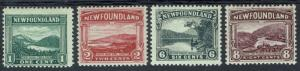 NEWFOUNDLAND 1923 PICTORIAL 1C,2C,6C AND 8C