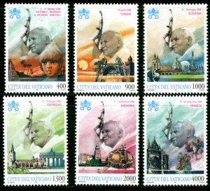 Vatican City MNH mint 1056-61 Pope travel      (Inv 001773.)