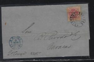 VENEZUELA   (PP2604B)   1877 EARLY, OVPT STAMP LA GUIRA TO CARACAS