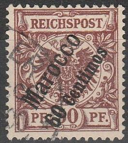 Germany Offices In Morocco #6  F-VF Used CV $37.50 (A16813)