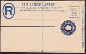 TRINIDAD QE 8c registered envelope fine unused..............................6116
