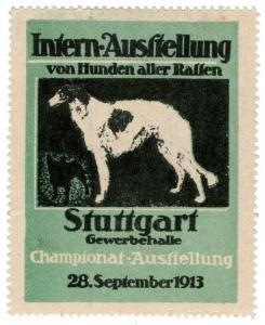 (I.B) Germany Cinderella : International Dog Exhibition (Stuttgart 1913)