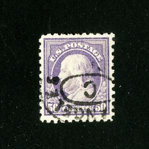 US Stamps # 477 XF Used Scott Value $80.00