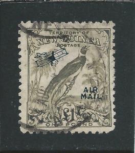 NEW GUINEA 1932-34 AIR £1 OLIVE-GREY GU SG 203 CAT £55