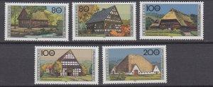 J29736 1995 germany set mnh #b785-9 houses