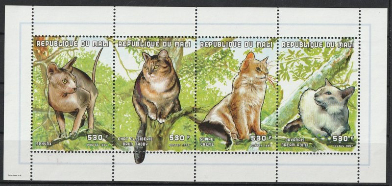 Mali MNH S/S Cats In A Tree 1997