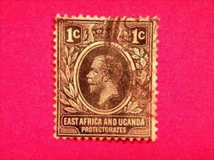 KENYA UGANDA AND TANGANYIKA, 1912, British East Africa, used 1c. black, King ...
