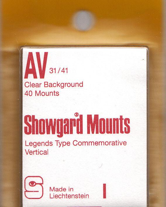 SHOWGARD CLEAR MOUNTS AV 31X41 (40) RETAIL PRICE $3.95