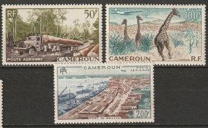 Cameroun 1955 Sc C34-6 Yt PA46-8 air post set MLH*/MNH**