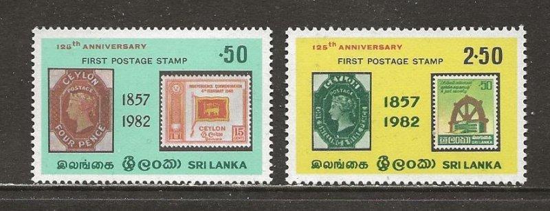 Sri Lanka Scott catalog # 651-652 Mint NH