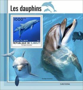 2021/05- DJIBOUTI - DOLPHINS           1V complet set    MNH ** T