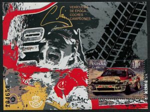 HERRICKSTAMP NEW ISSUES SPAIN Sc.# 4151 Vintage Auto - Carlos Sainz Toyota S/S