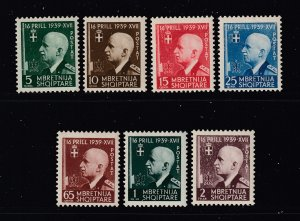 Albania the 1942 set MNH