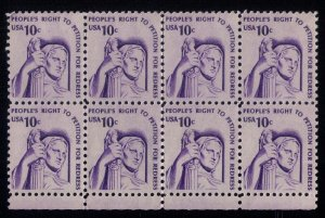 US Sc #1592 Zip Block Of 8 Stamps MH , Og Very Fine
