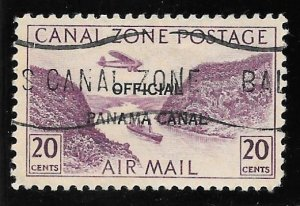 Canal Zone Scott #CO10  Used 20 cents Official Air 2018 SCV = $160.00