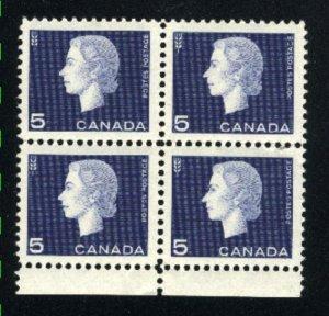 Canada #405   block   Mint NH VF 1962   PD