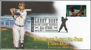 AO-4695-2, 2012, Larry Doby, Add-on Cachet, Major League Baseball All-Stars,