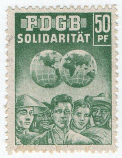 (I.B) East Germany Cinderella : FDGB Union Dues 50pf (Solidarity)