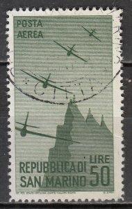 San Marino - 1946 air stamp Sc# C50  (7223)