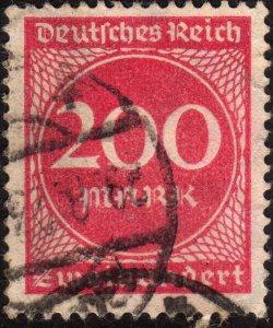 1923, Germany, 200Mk, Used, Sc 230