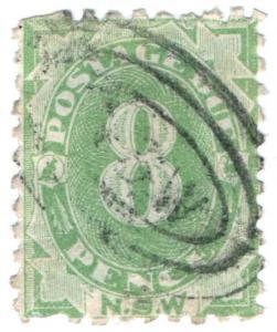 (I.B) Australia - NSW Postal : 8d Postage Due (SG D7)