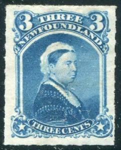 HERRICKSTAMP NEWFOUNDLAND Sc.# 39 1876 Bright Color LH