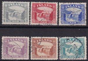 Iceland #170-75  F-VF Used CV $52.60  (Z8005)