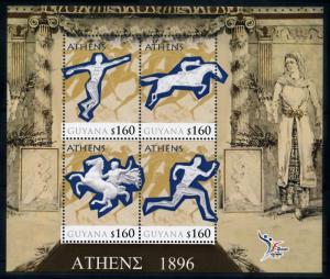 [78172] Guyana 2010 Olympic Games Athens Athletics Equestrian Sheet MNH