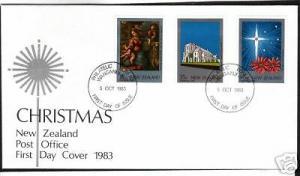 NEW ZEALAND FDC 1983 CHRISTMAS