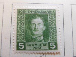Bosnia & Herzegovina 1917 5h fine MH* stamp A13P18F69