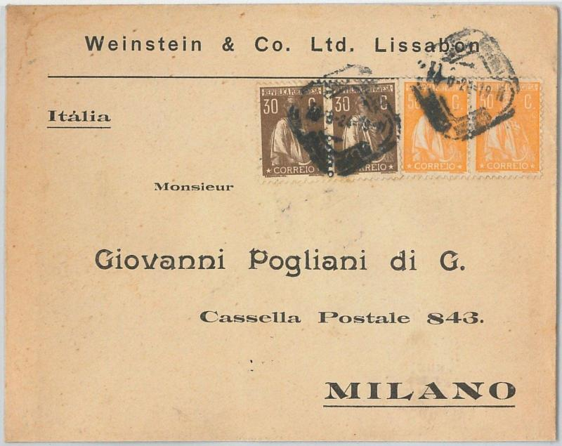 58247 -  PORTUGAL  - POSTAL HISTORY: COVER to ITALY - 1924