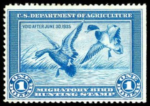 U.S. REV. DUCKS RW1  Mint (ID # 87987)