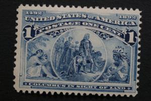 United States #230 1 Cent Columbian 1893 OG