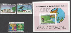 Maldive Islands 678-81  MNH    Satellite Earth Station