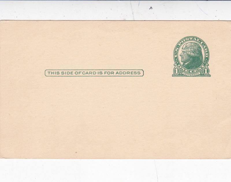 United States 1c Jefferson Postcard JW Minder Chain&Gear co.Unused VGC