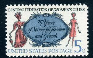 Scott #1316 - 5¢ Women's  Clubs - MNH