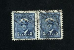 Canada #255  pair  used     PD