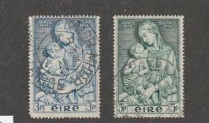 Ireland stamps, used, set of two, scott# 151-152, blue/green,  Mondonna #M992
