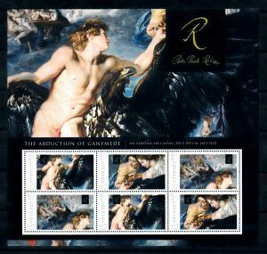 [100087] Grenada 2009 Art Painting Rubens Abduction of Ganymede Sheet MNH