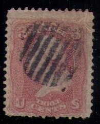 US Sc 64b (1861) Used (upper left small crease) F-VF