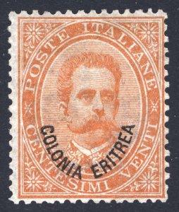 Eritrea 1892 20c Orange Scott 5, SG 5, LMM/MLH Cat $375