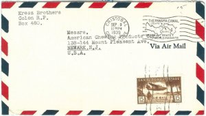 72373 - USA : Panama Canal Zone - POSTAL HISTORY -  COVER from CHRISTOBAL  1939