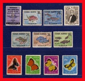 1958 - Cuba - SC. 608-609 - C 185-C 191 - U. 26-27-MNH - CU-35 - 06